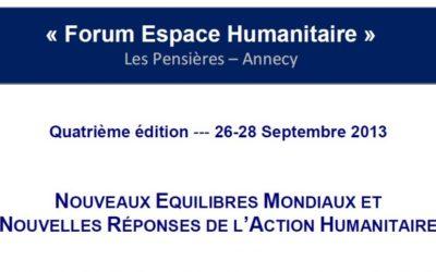 Forum Espace Humanitaire (Fondation Mérieux)